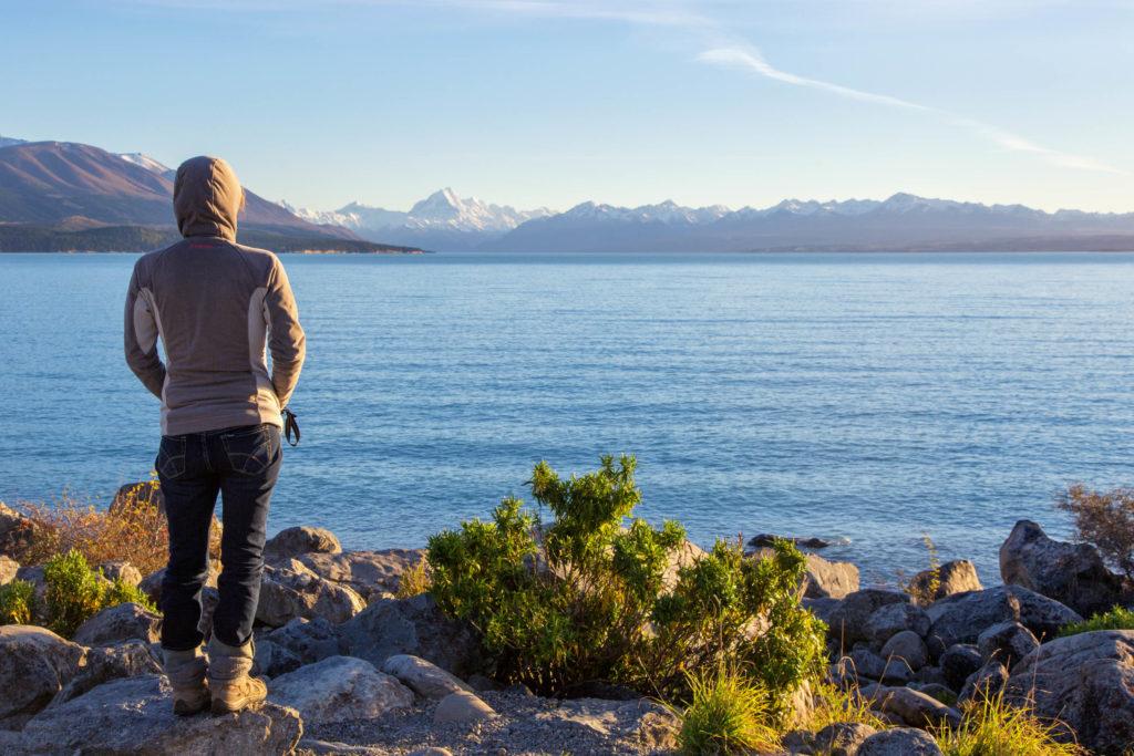 Neuseeland im Herbst - Blick auf den Aoraki/Mount Cook