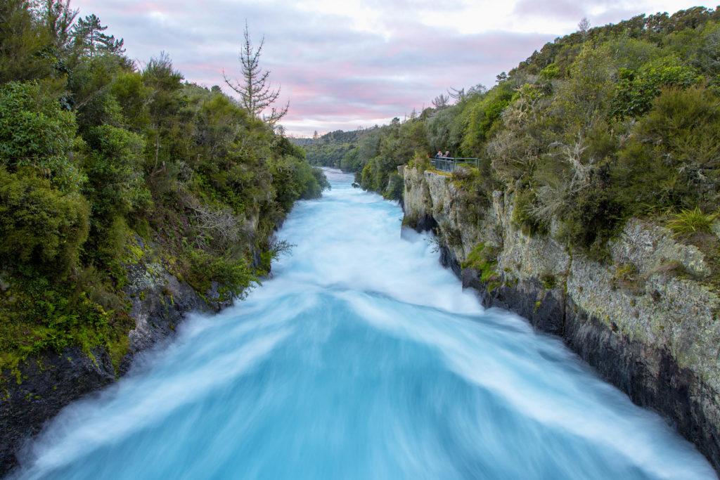 Huka Falls New Zealand - Neuseeland im Herbst