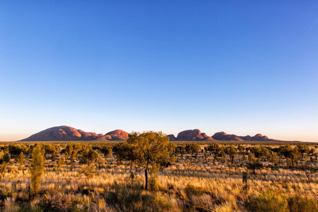 Die Kata Tjuta Felsformationen im Uluru Kata Tjuta National