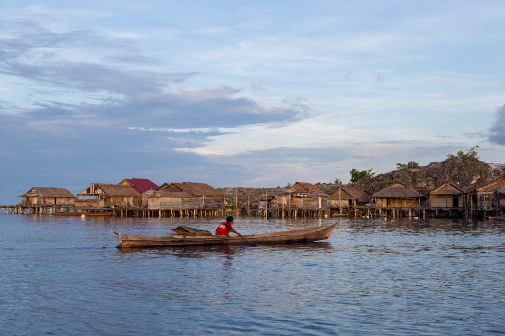 Bajau Dorf Togian Inseln Indonesien - Bajau Village