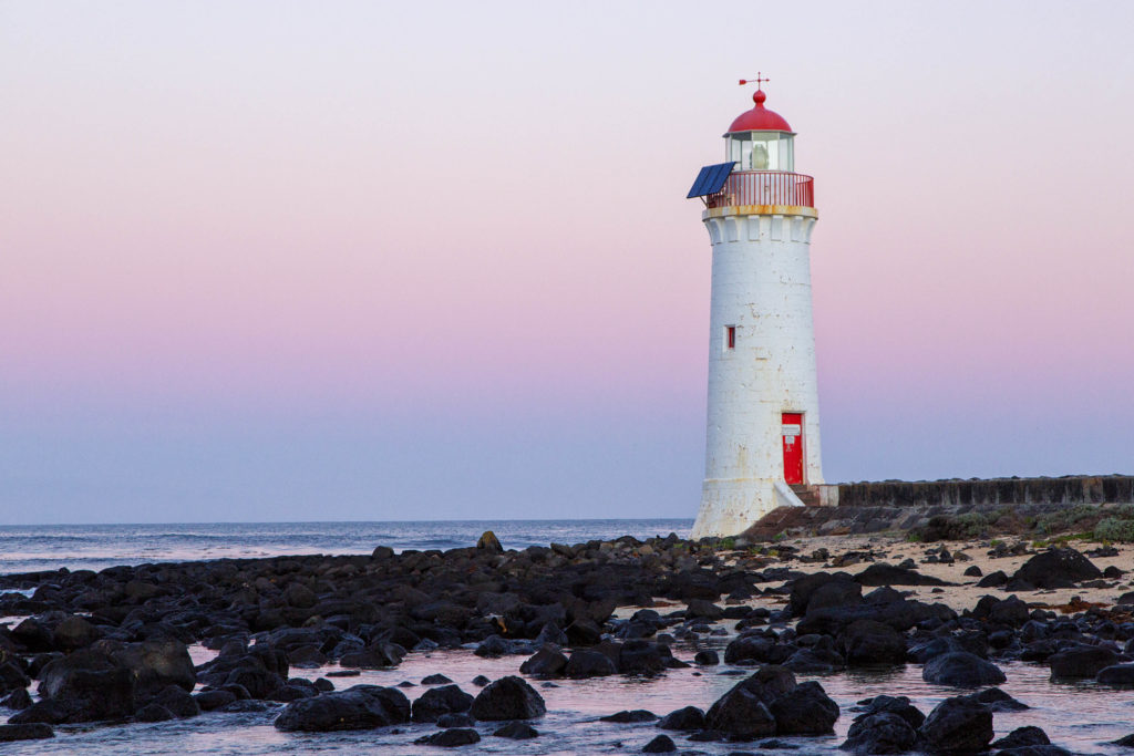 Great Ocean Road - Der Leuchtturm im pittoresken Örtchen Port Fairy