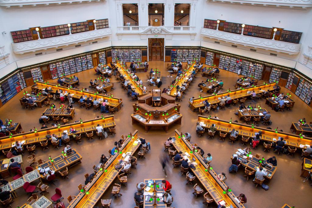 Auf der Great Ocean Road bis nach Melbourne - Die State Library