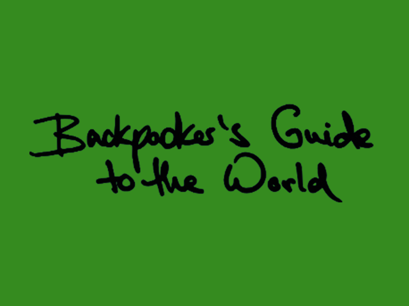 Zu Gast bei Backpacker's Guide to the World