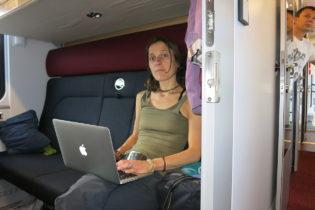 Im Zug nach Moskau