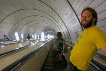 Rolltreppe Metro Moskau