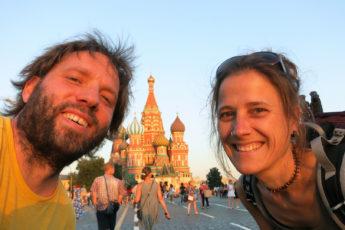 Wir am Roten Platz, Moskau