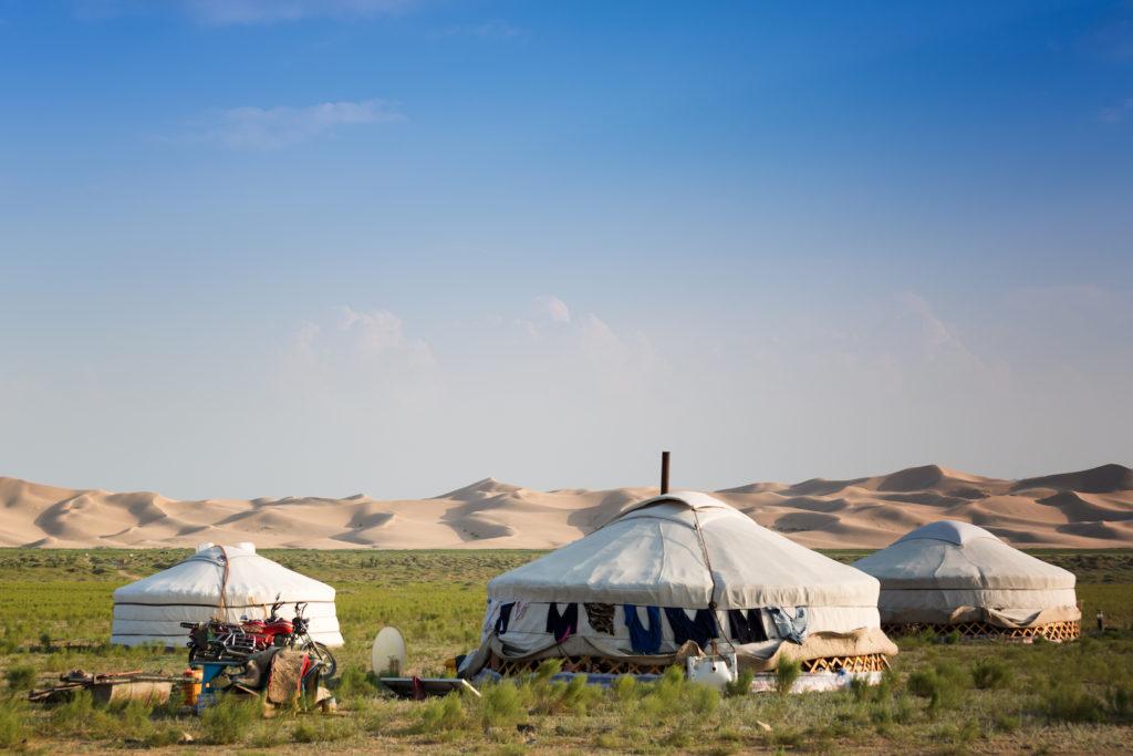 Nomadencamp in der Wüste Gobi