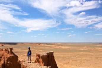 Blick über die Wüste Gobi, Mongolei