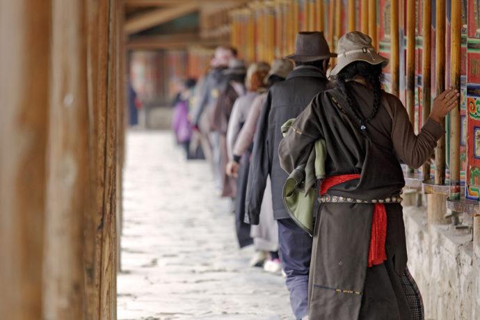 Kloster Labrang, Gebetsmühlen, Xiahe