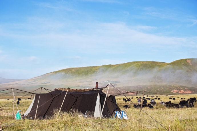 Pferdetrekking in Langmusi, unsere Unterkunft
