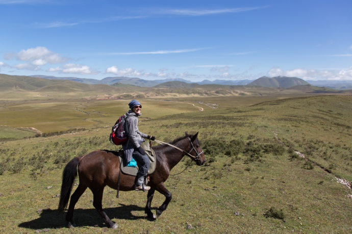 Pferdetrekking in Langmusi
