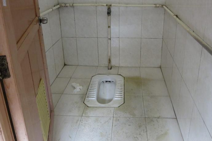 Krankenhaus Yangshuo, Toilette