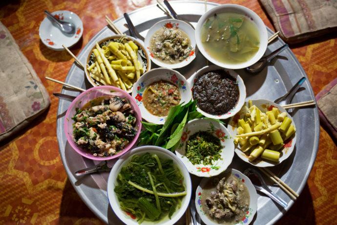 Laotisches Essen, Homestay am Nam Ou
