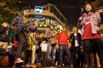 Strassenmusik Hanoi