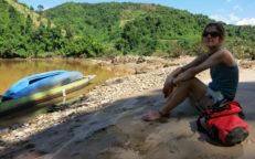 Bootstrip auf dem Nam Ou, Laos