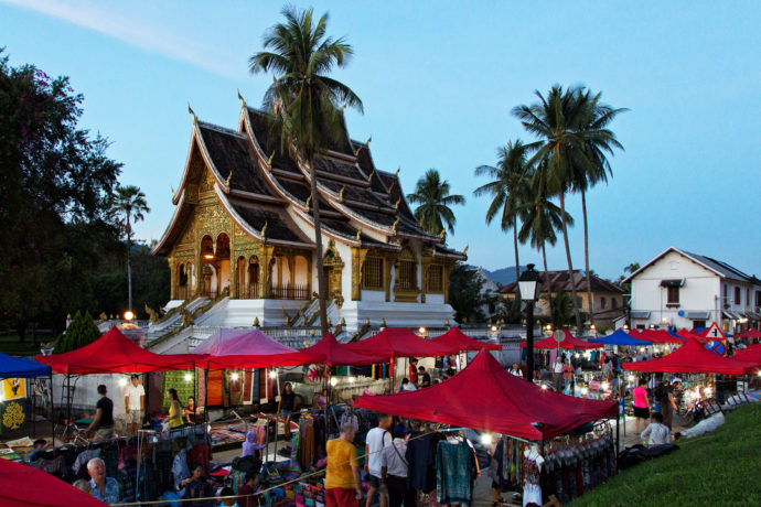 Der Nachtmrkt in Luang Prabang