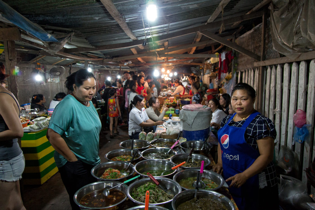 Street Food in Food Street Luang Prabang