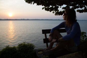 Sonnenuntergang am Mekong - Thakhek