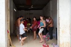 Eine Familienfeier in Kampong Cham
