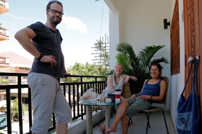 Florian und Ina in Phnom Penh