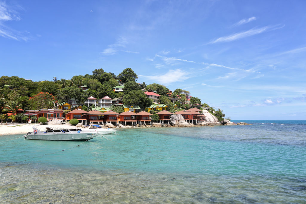 Haad Rin Strand und Bungalows auf Koh Phangan
