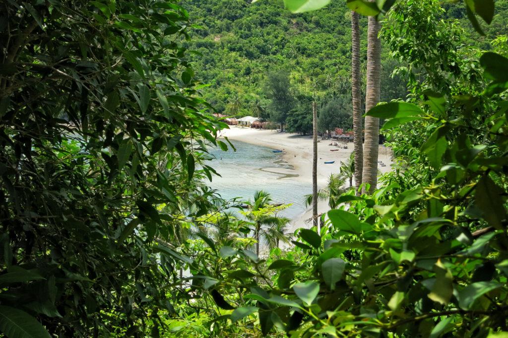 Blick auf den Bottle Beach auf Koh Phangan