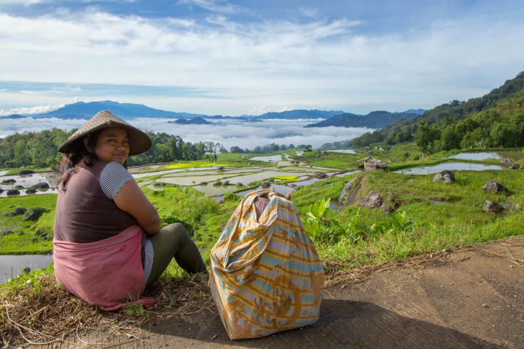 Toraja Frau im Toraja Hochland