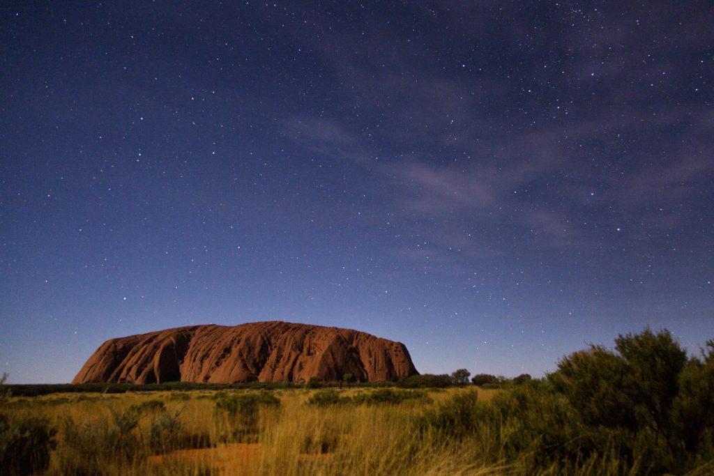 Roadtrip Uluru - Australien - Ayers Rock bei Nacht