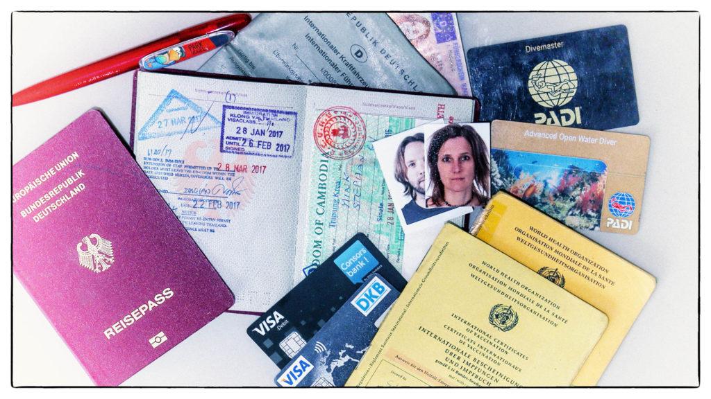 Checkliste für eine Urlaubsreie oder Weltreise