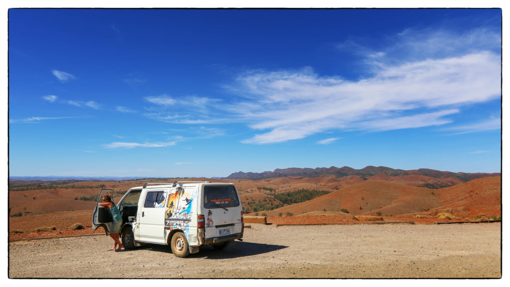 Mit dem Camper unterwegs in den Flinders Ranges, Australien