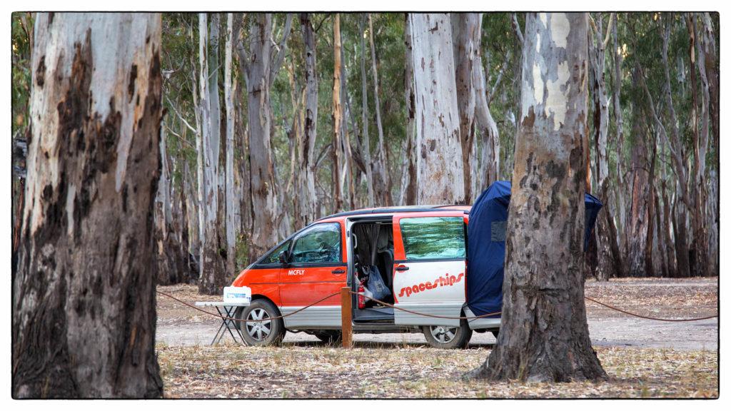 Mit dem Camper unterwegs am Murray River, Australien