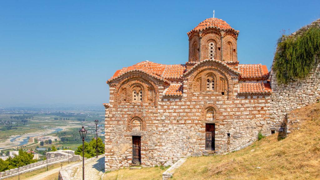 Die Kirche der Heiligen Dreifaltigkeit in Berat