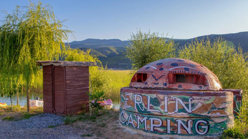 Bunker Camping Erlin am Orhidsee, Albanien