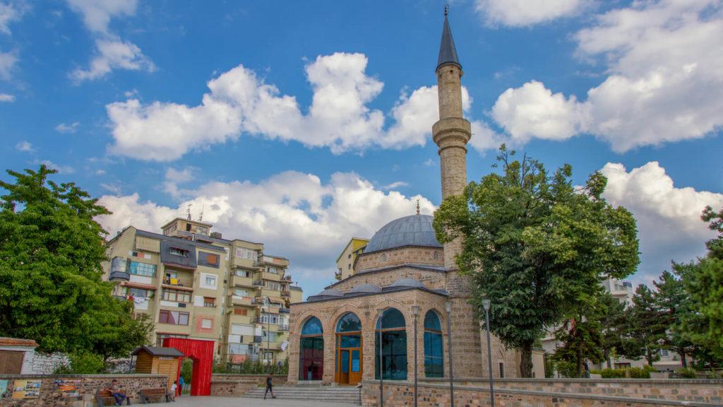 Die Mirahor-Moschee in Korca, Albanien