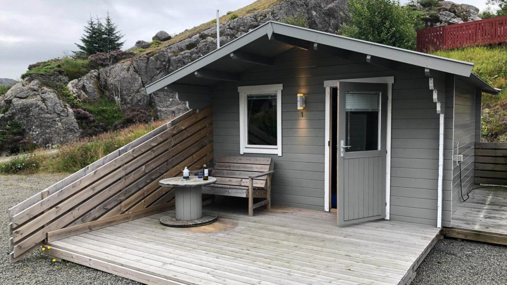 Campingplatz Vågan Camping Hütte - Mit dem Auto durch Norwegen