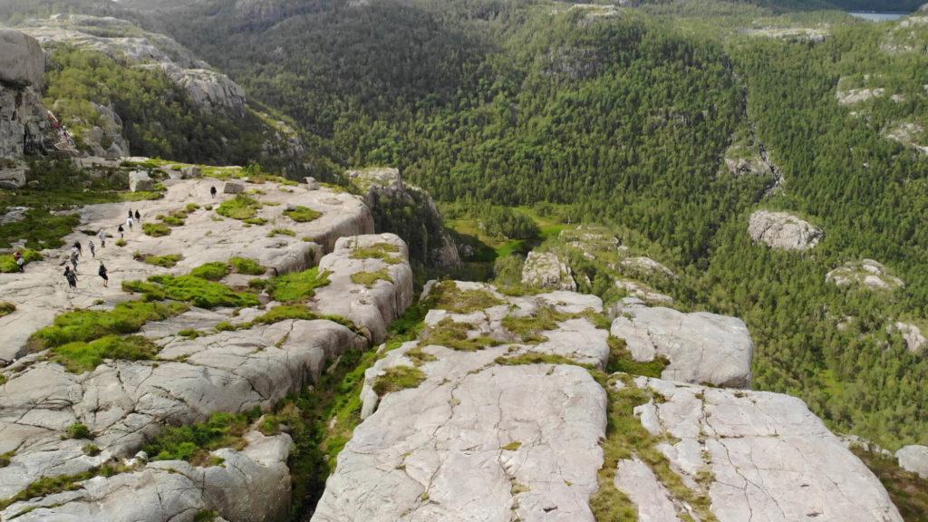 Wanderweg Preikestolen aus der Luft
