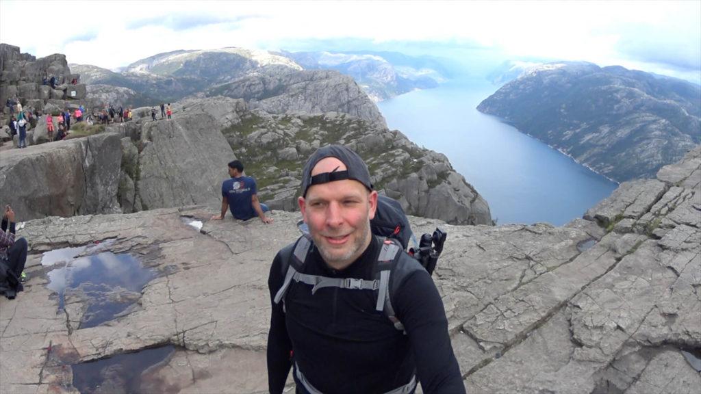 Jens am Preikestolen in Norwegen