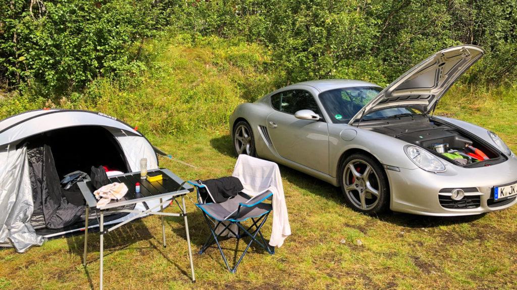 Camping mit Porsche Cayman - Norwegen Reisetipps