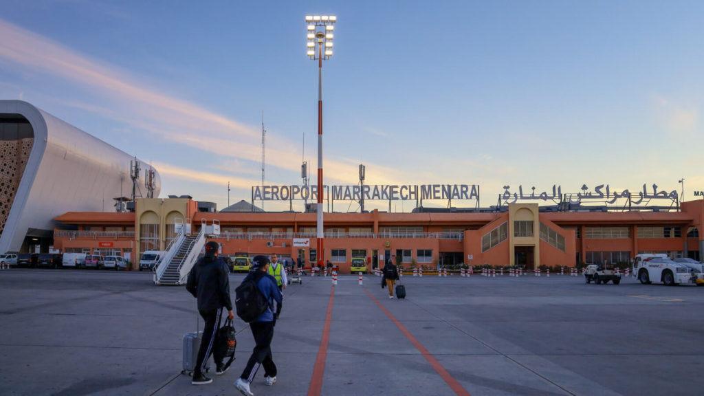 Reisekosten Marokko - Ankunft am Flughafen Marrakech Menara