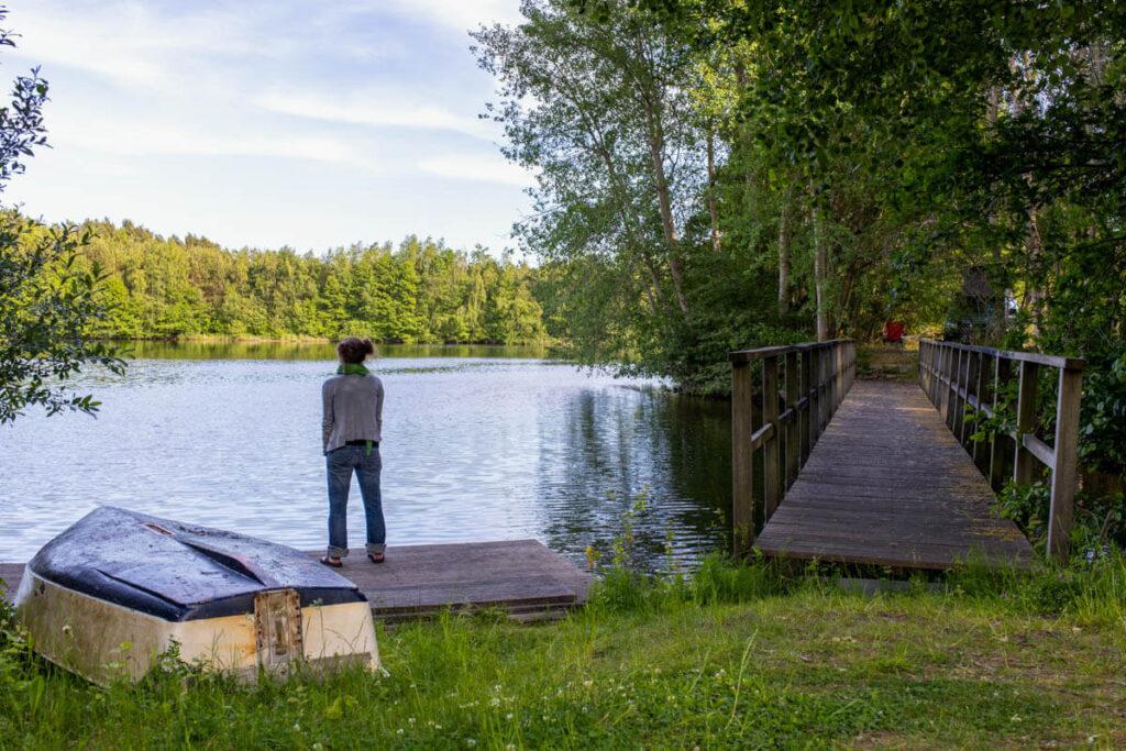 Blick auf den See der Hofkäserei Dennemann