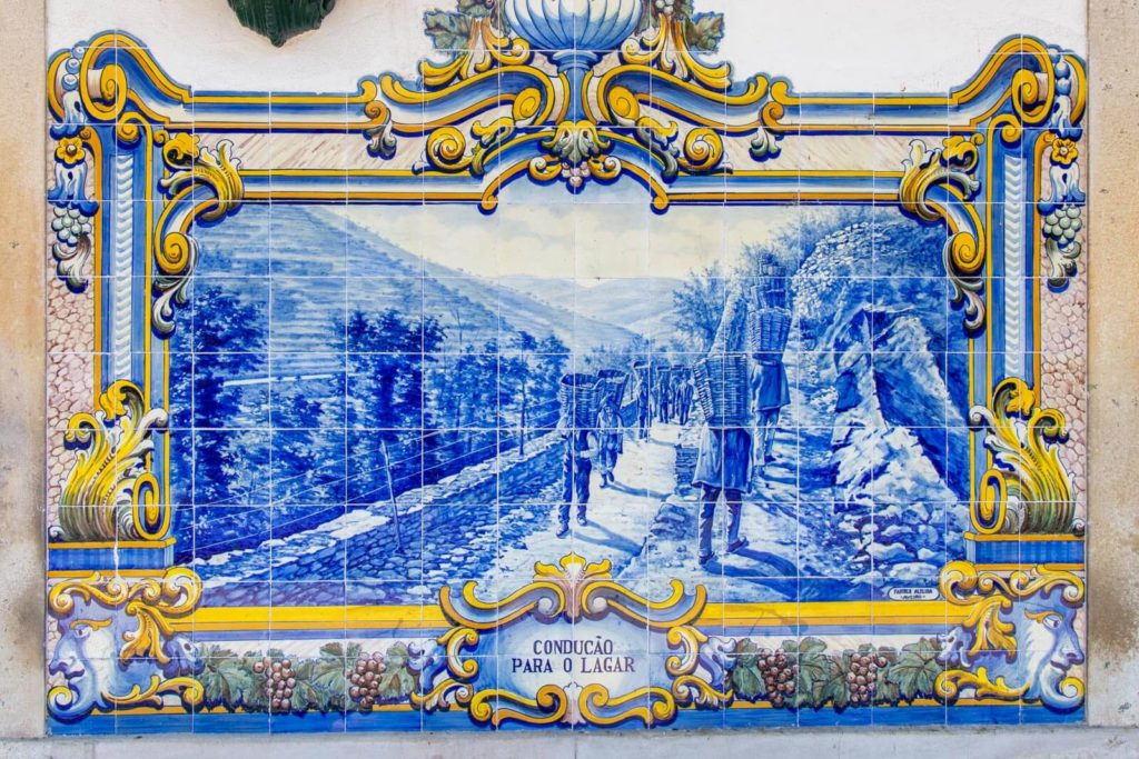 Azulejo am Bahnhof von Pinhão
