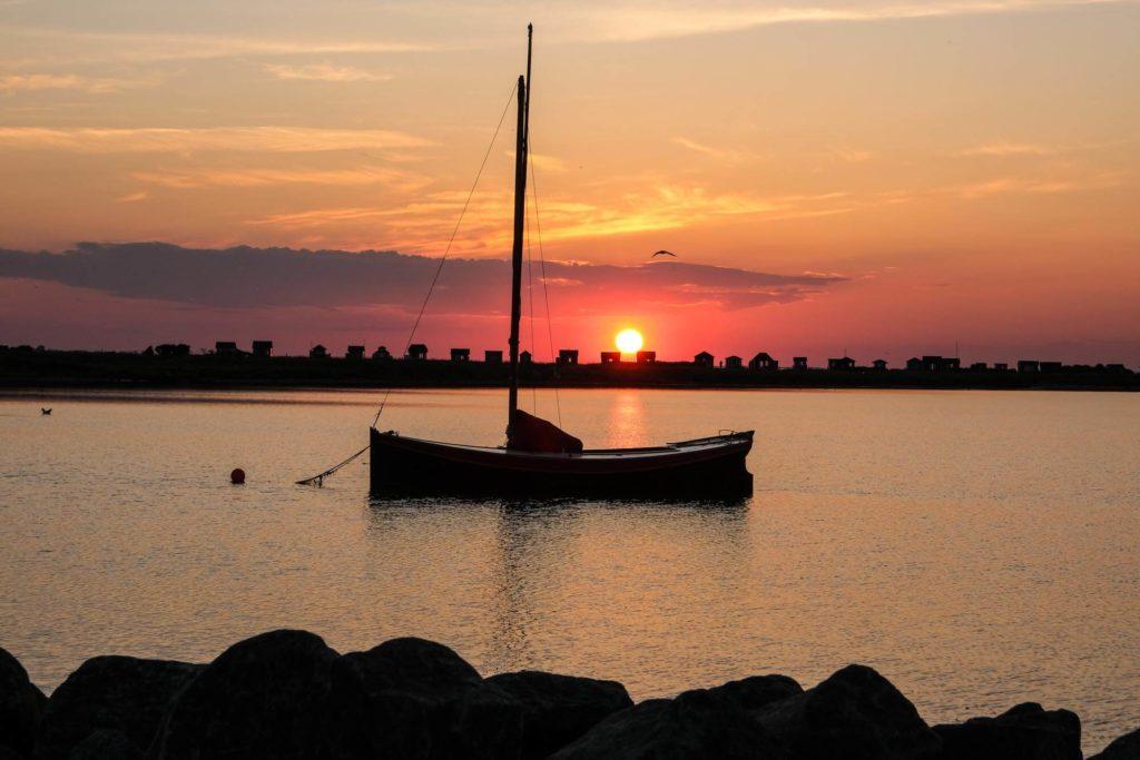 Oranger Abend - Radtour durch Dänemark