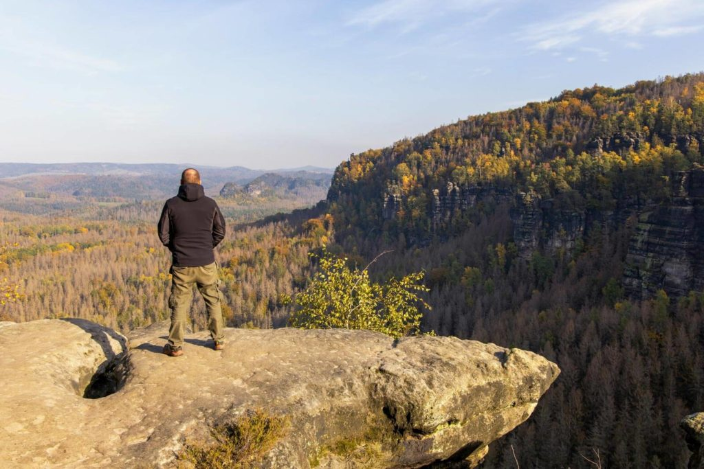 Ausblick über den Nationalpark Sächsischer Schweiz - Wandern in der Sächsischen Schweiz