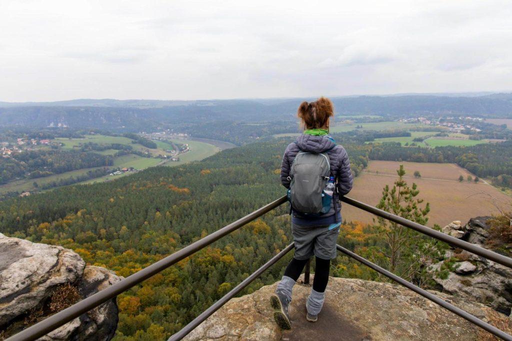 Ausblick vom Lilienstein auf die Sächsische Schweiz - Wandern in der Sächsischen Schweiz