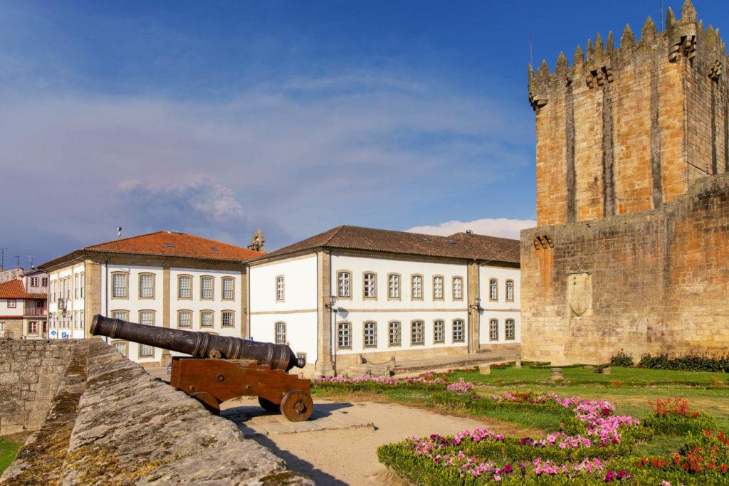 Kanone auf der Festung in Chaves Nordportugal