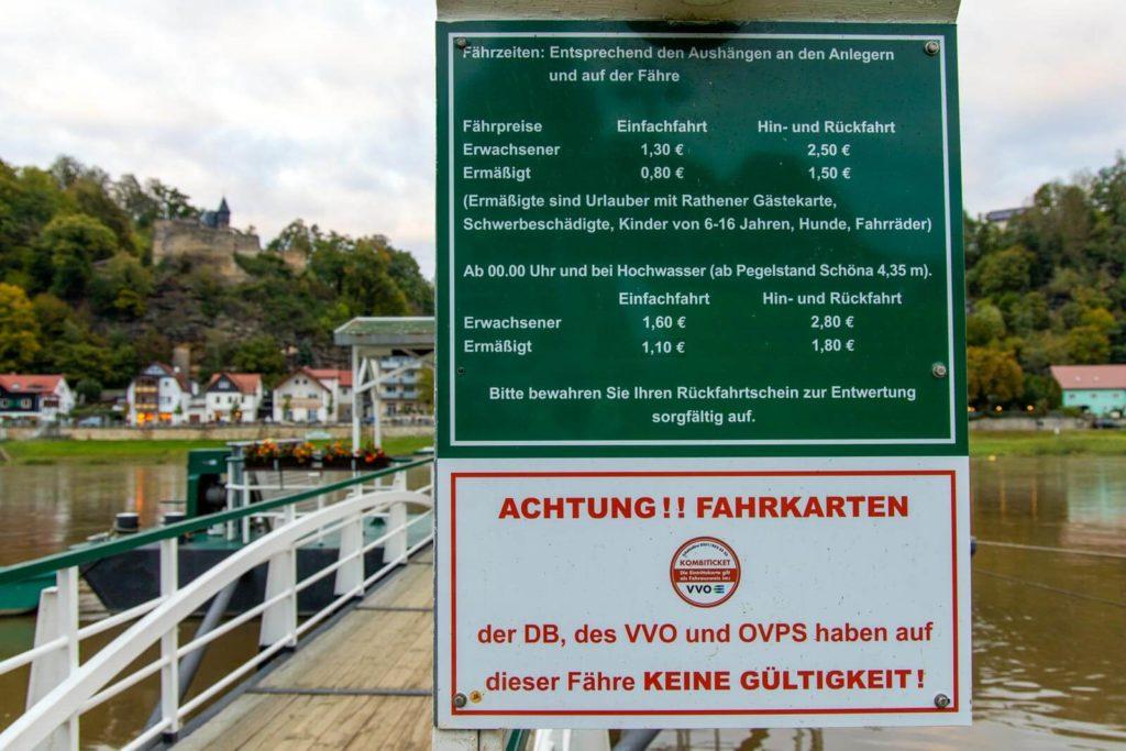 Fähranler in Rathen - Wandern in der Sächsischen Schweiz