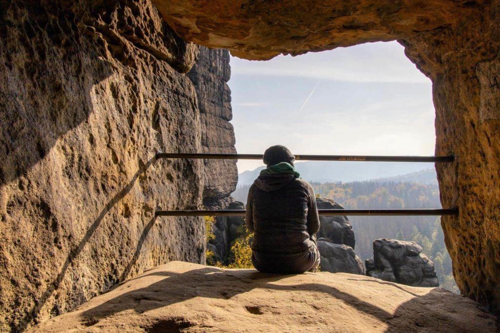 Blick aus dem Schneiderloch - Wandern in der Sächsischen Schweiz