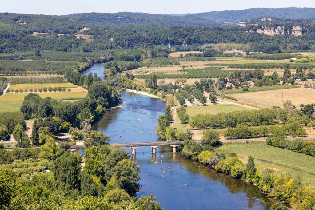 Blick auf das Dordogne-Tal
