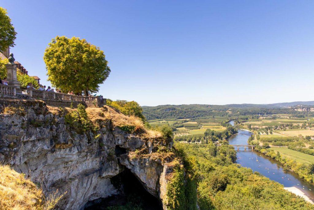 Blick von Domme auf das Dordogne-Tal