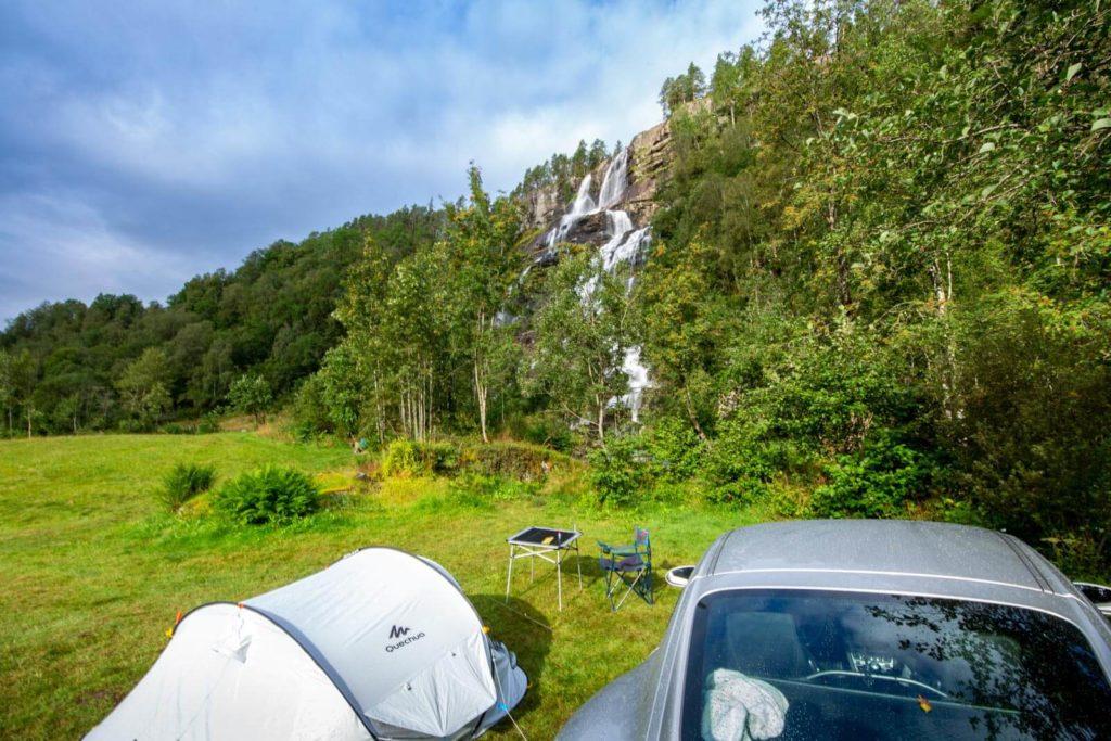 Norwegen Roadtrip - Camping Twinde Wasserfall